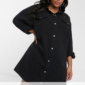 Misguided Oversized Denim Dress